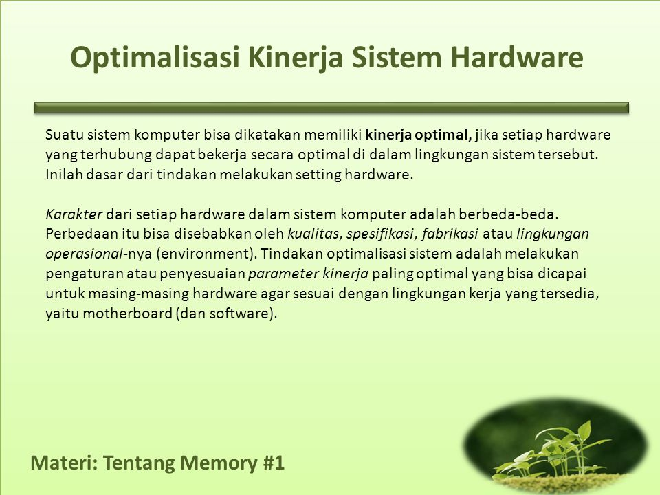 Optimalisasi Kinerja Sistem Hardware