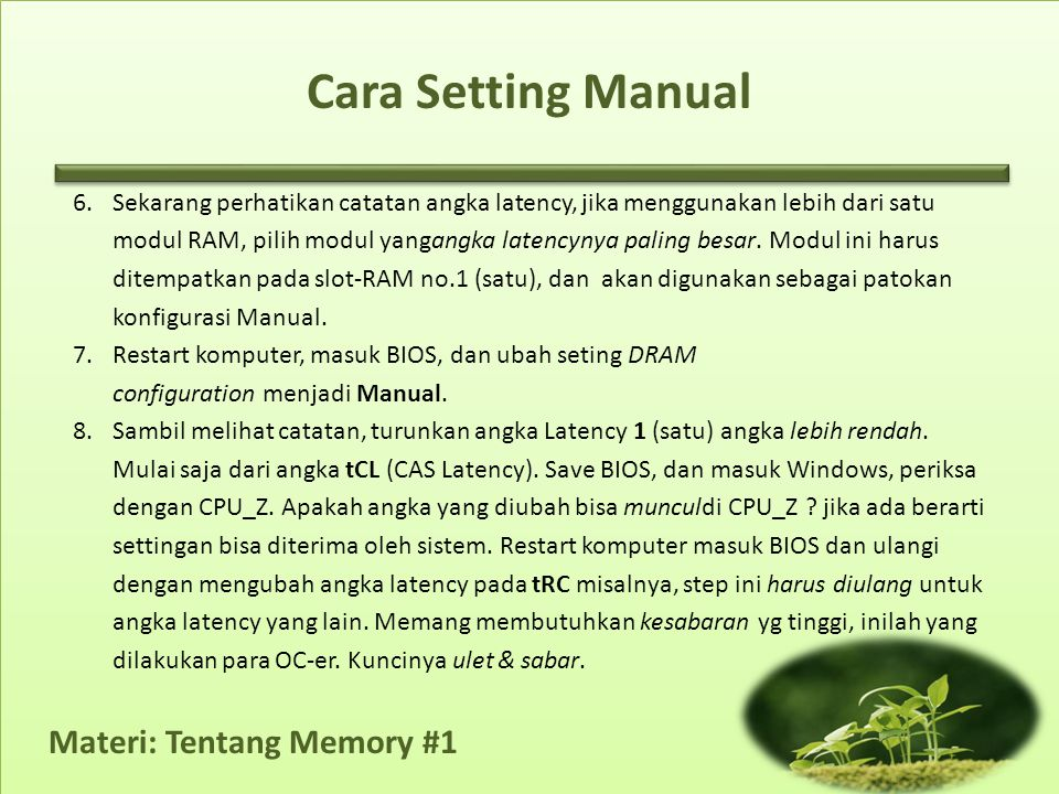 Cara Setting Manual