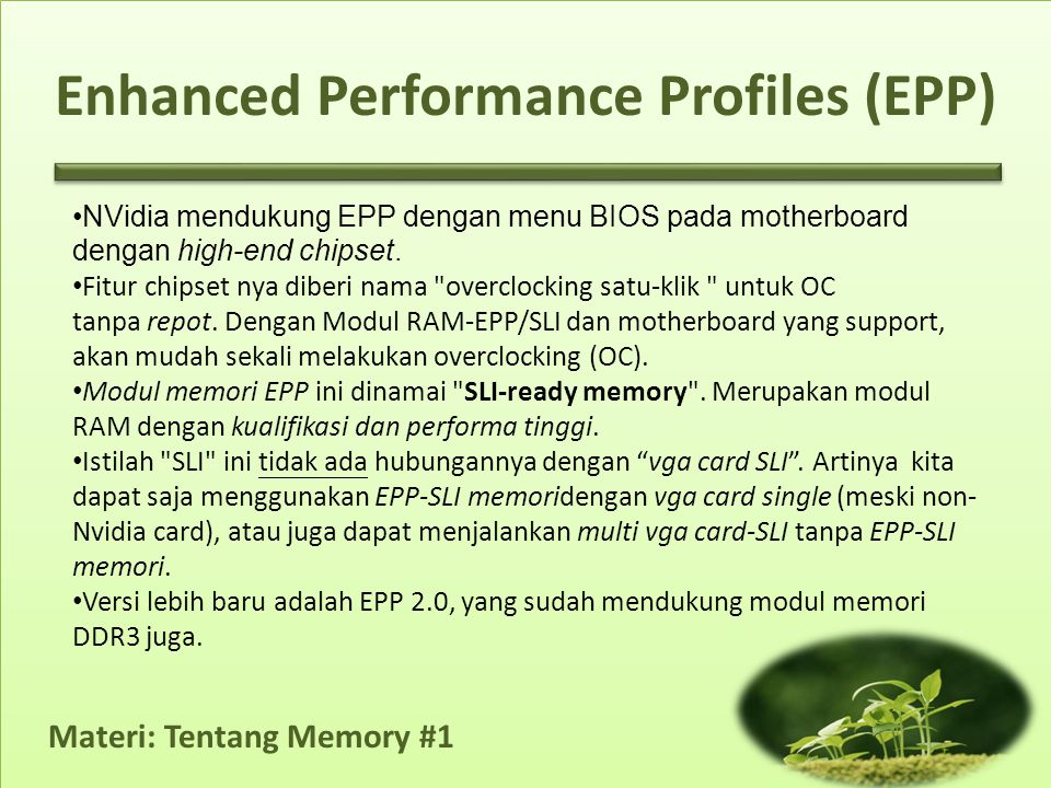 Enhanced Performance Profiles (EPP)