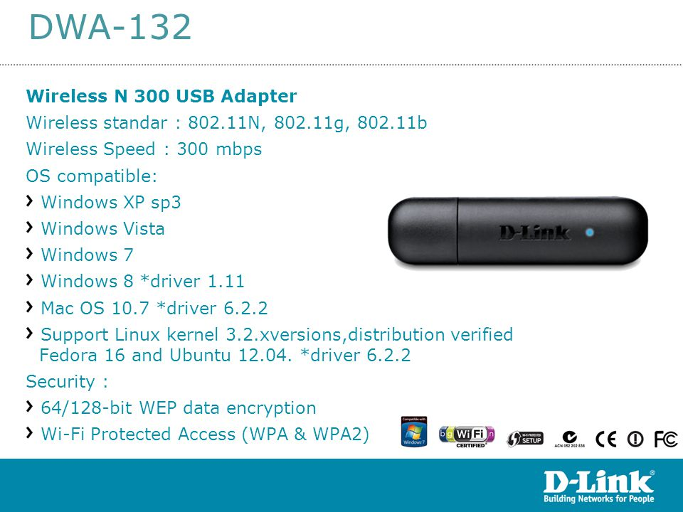 DWA-132 DWA-132 Wireless N 300 USB Adapter