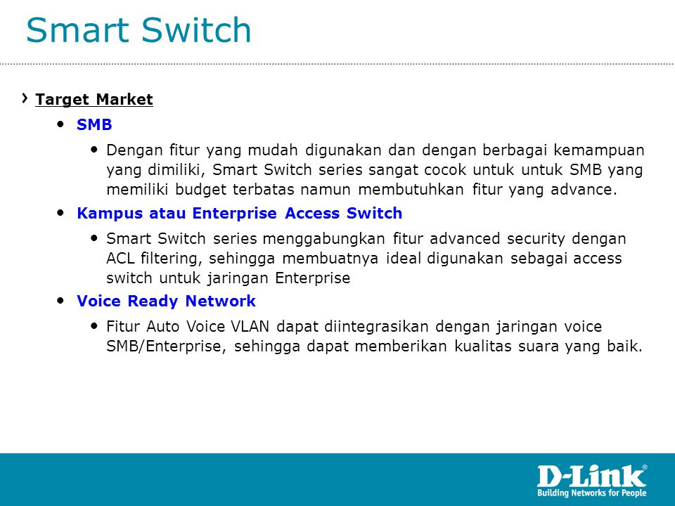 Smart Switch Target Market SMB