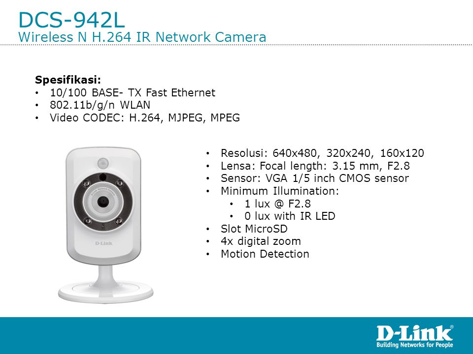 DCS-942L Wireless N H.264 IR Network Camera