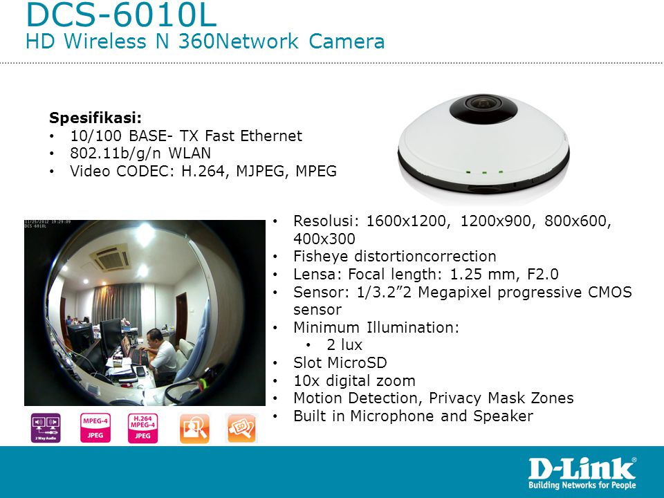 DCS-6010L HD Wireless N 360Network Camera