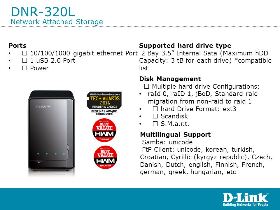DNR-320L Network Attached Storage
