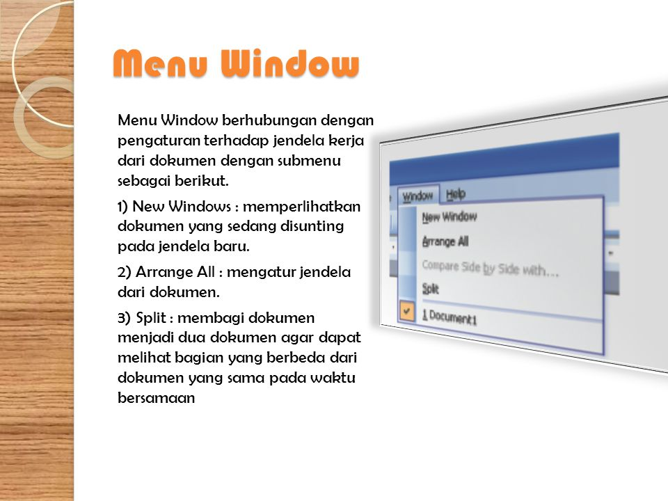 Menu Window