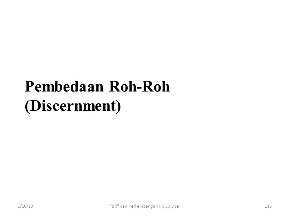 Pembedaan Roh-Roh (Discernment)