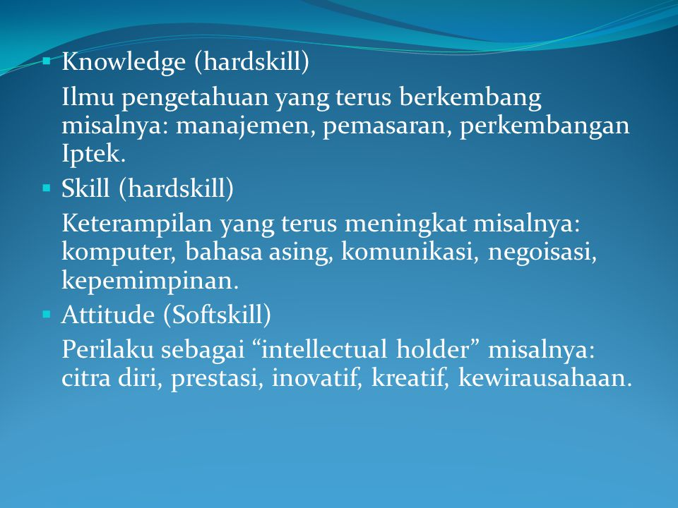 Knowledge (hardskill)
