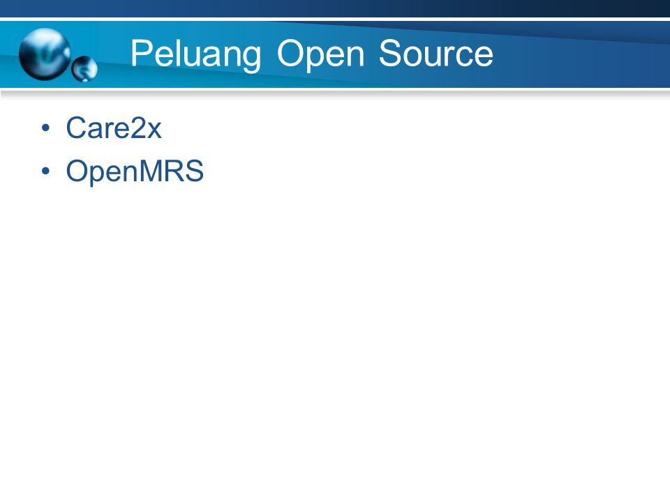 Peluang Open Source Care2x OpenMRS