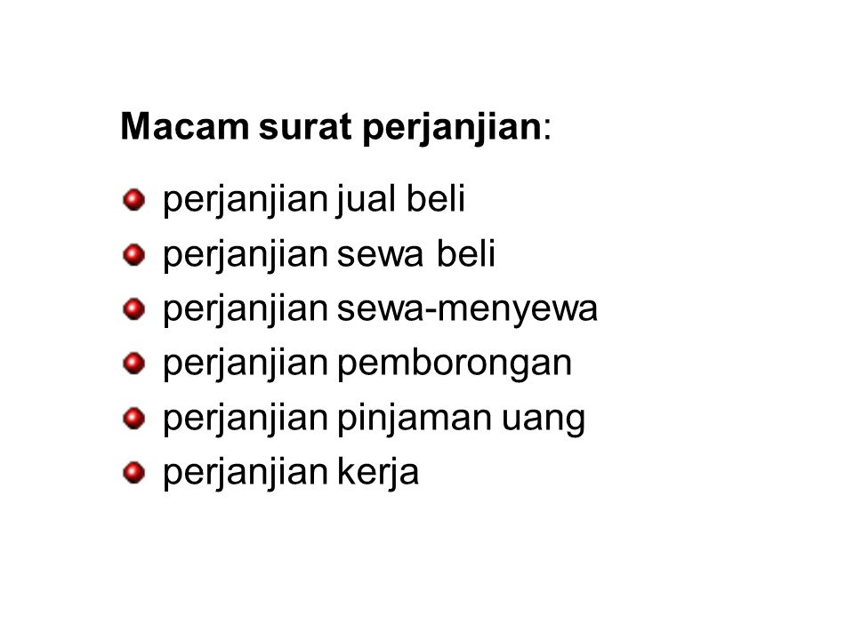 Bahasa Indonesia Surat Kuasa Surat Perjanjian Ppt Download