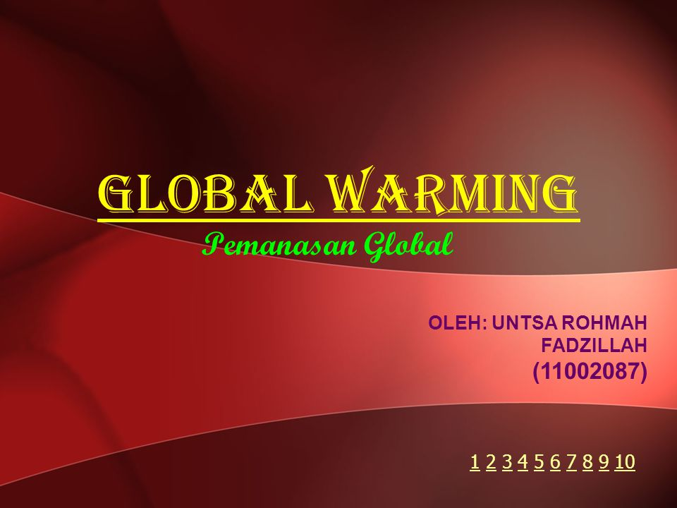 Global Warming Pemanasan Global ( )