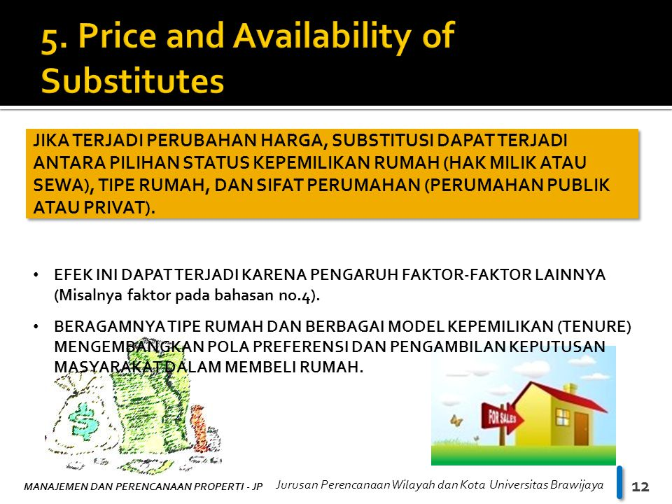 5. Price and Availability of Substitutes
