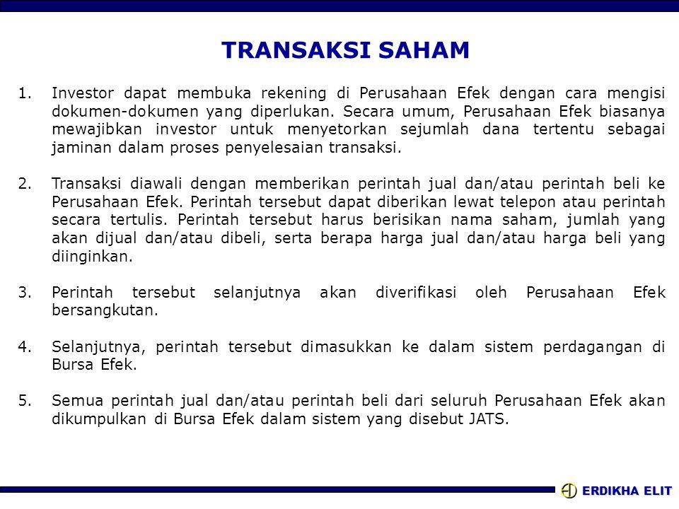 Saham Dan Proses Transaksi Ppt Download