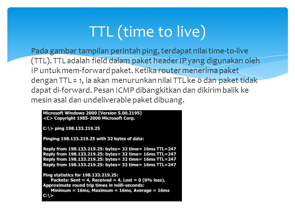TTL (time to live)