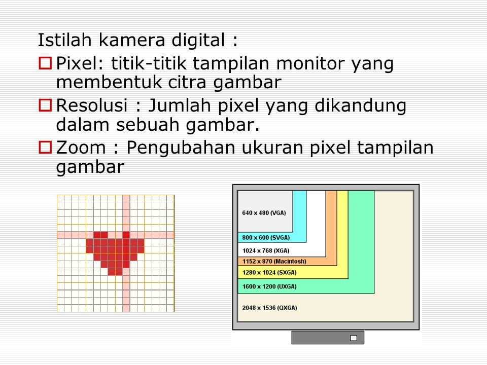 Istilah kamera digital :
