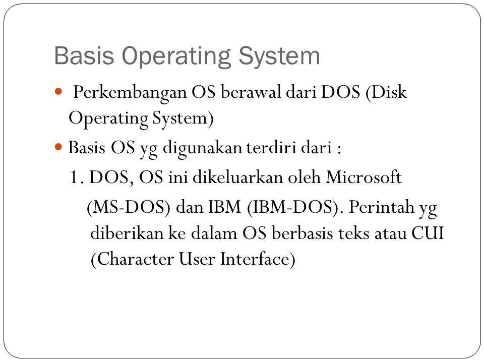 Basis Operating System