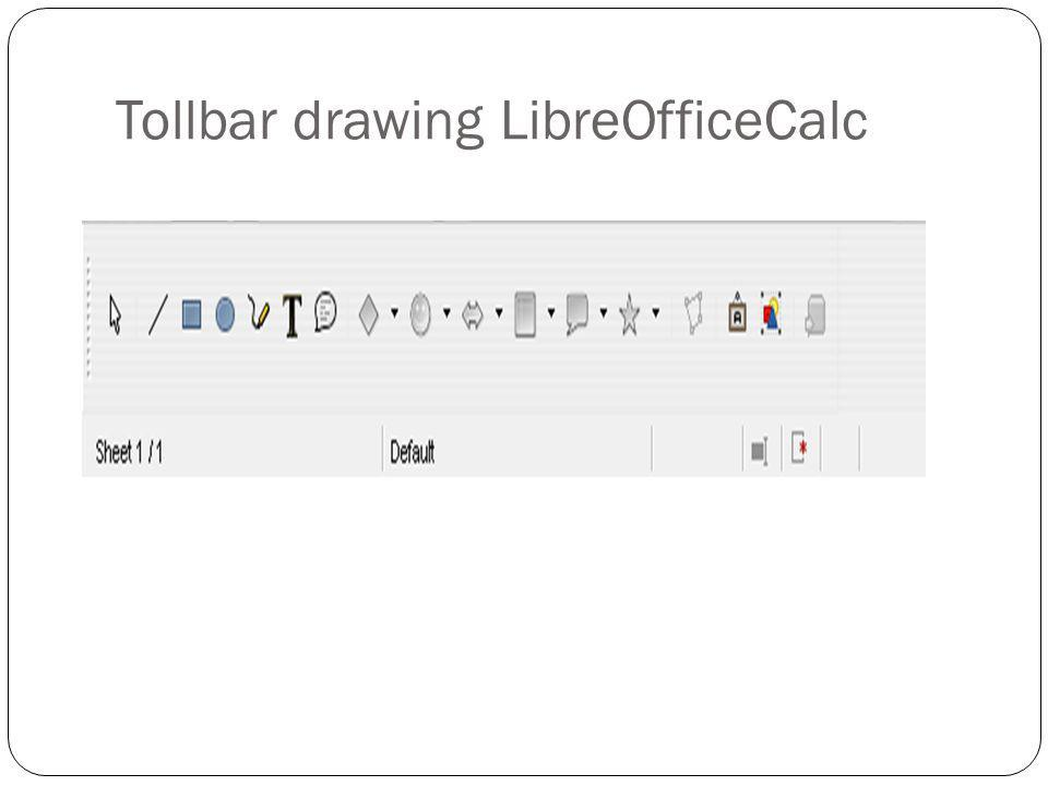 Tollbar drawing LibreOfficeCalc