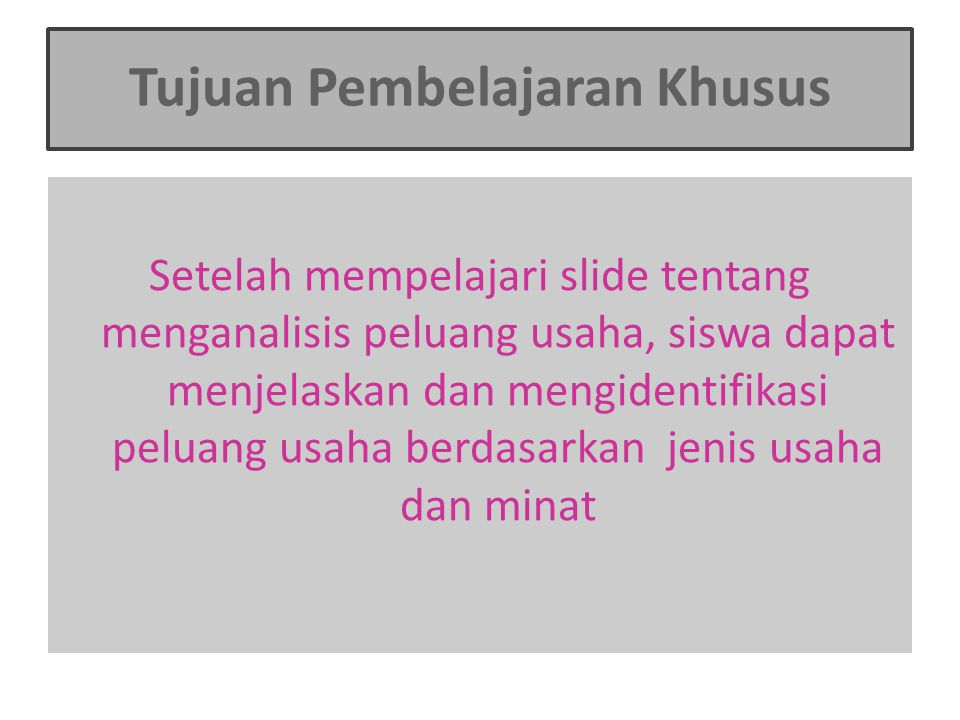B Menganalisis Peluang Usaha Ppt Download