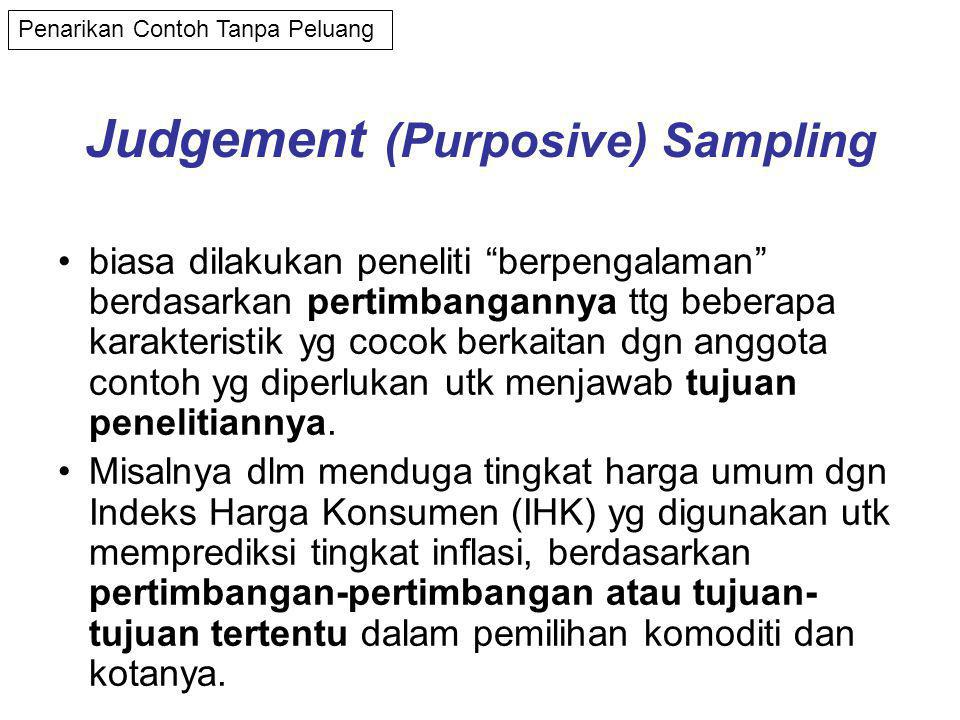Judgement (Purposive) Sampling