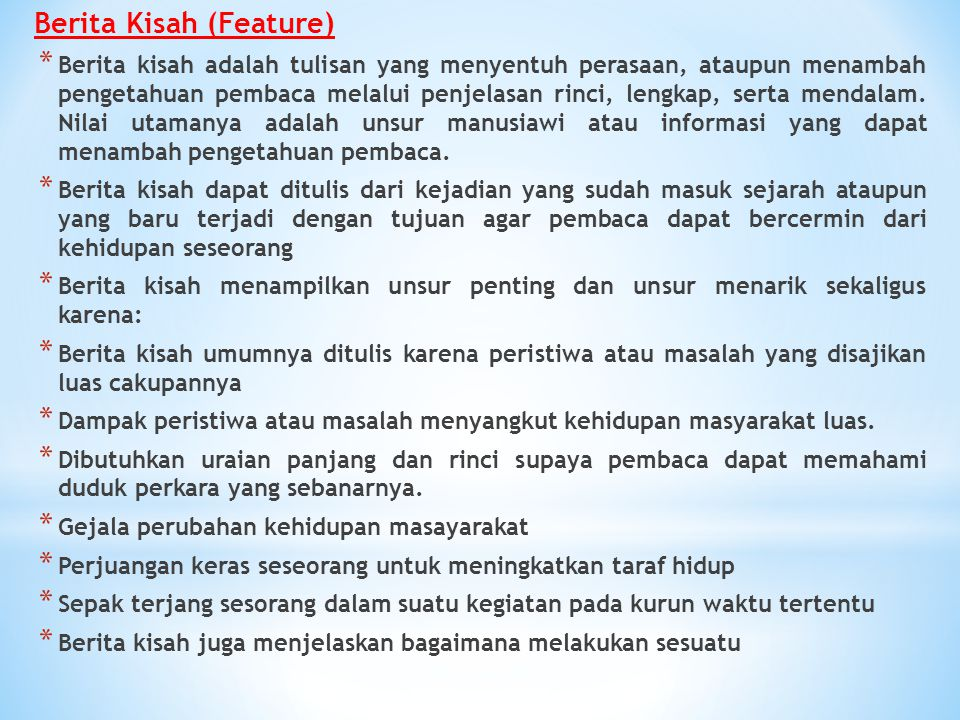 Berita Kisah (Feature)