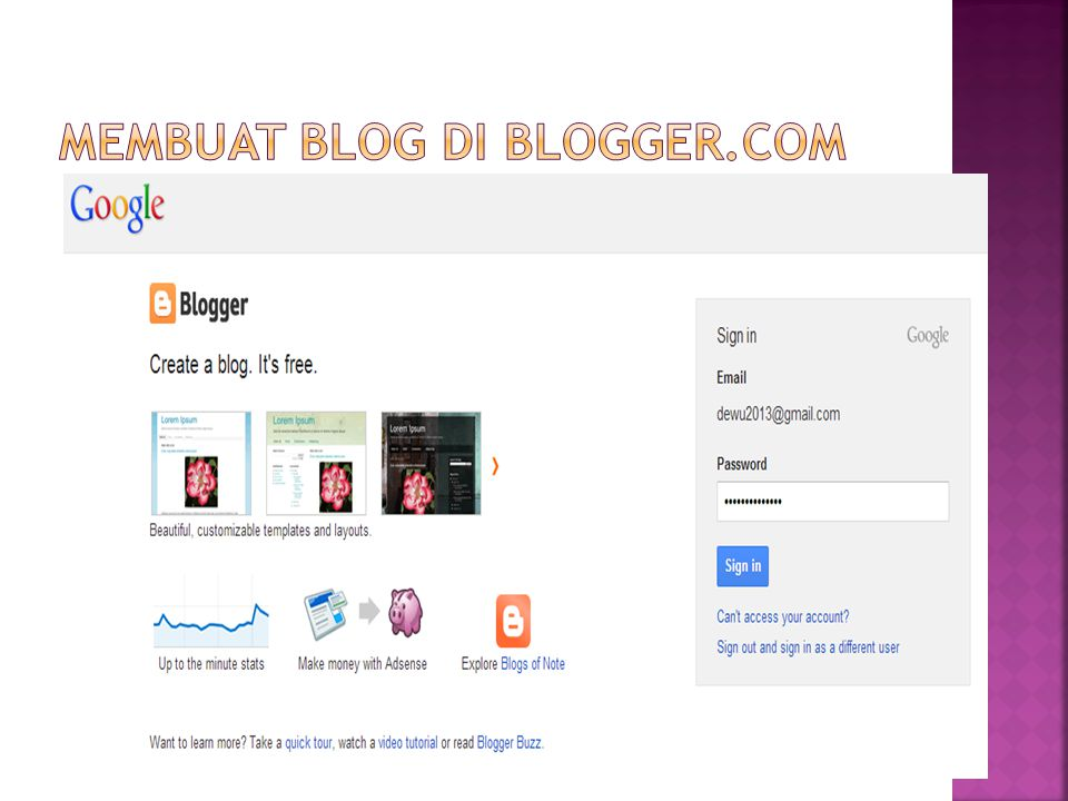 Membuat blog di blogger.com