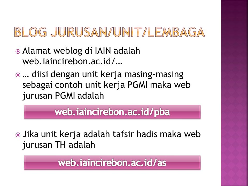Blog Jurusan/Unit/lembaga