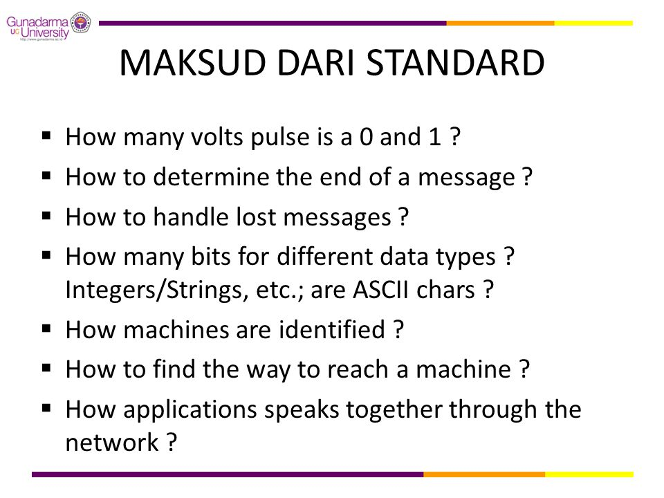 MAKSUD DARI STANDARD How many volts pulse is a 0 and 1