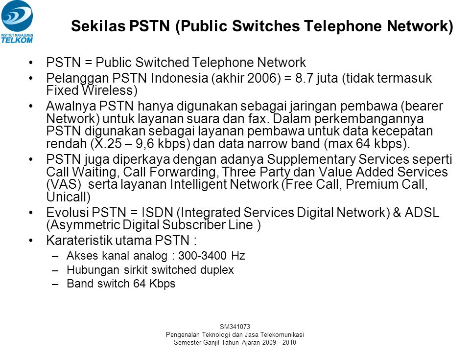 Sekilas PSTN (Public Switches Telephone Network)