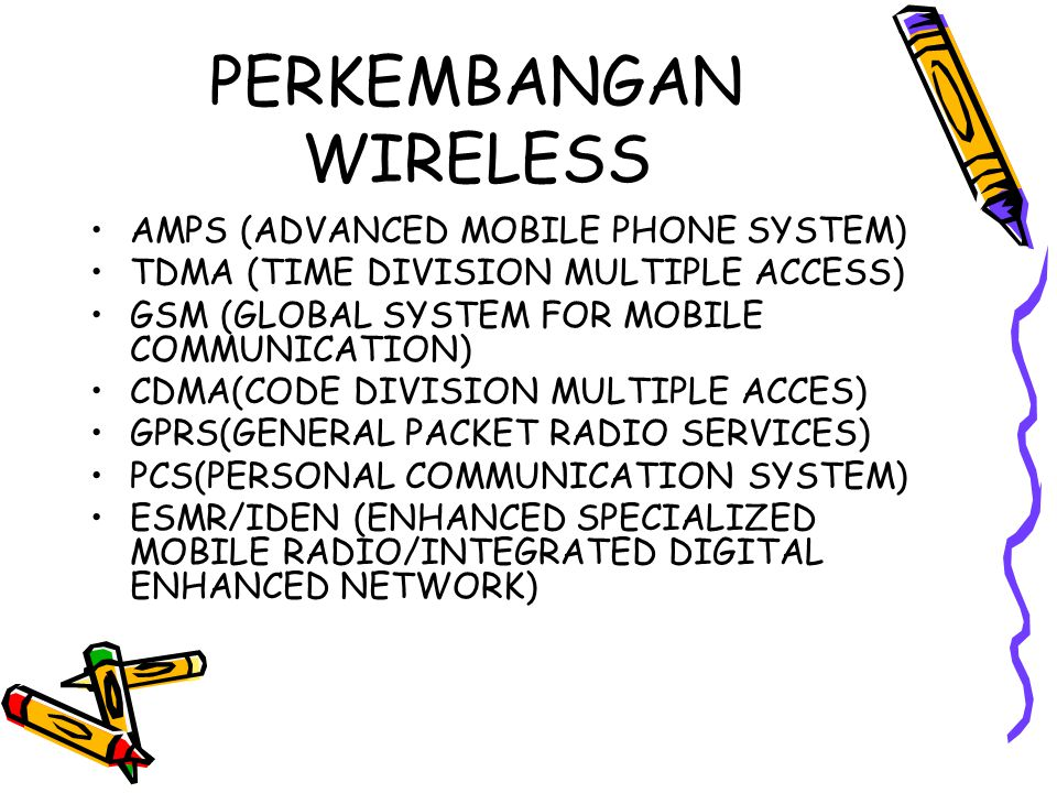 PERKEMBANGAN WIRELESS