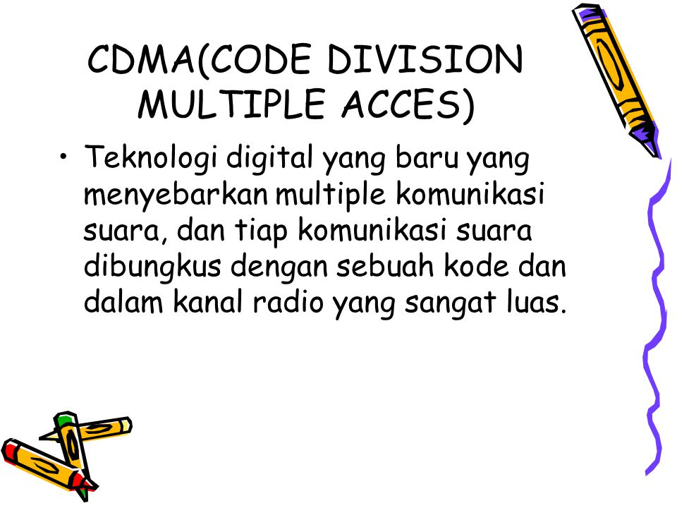 CDMA(CODE DIVISION MULTIPLE ACCES)