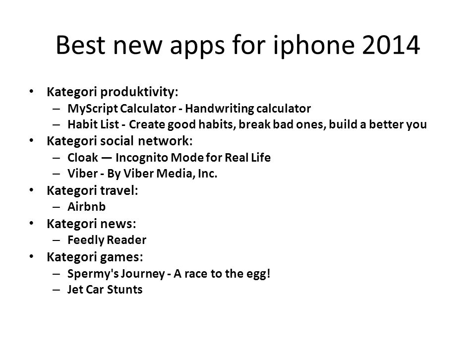 Best new apps for iphone 2014