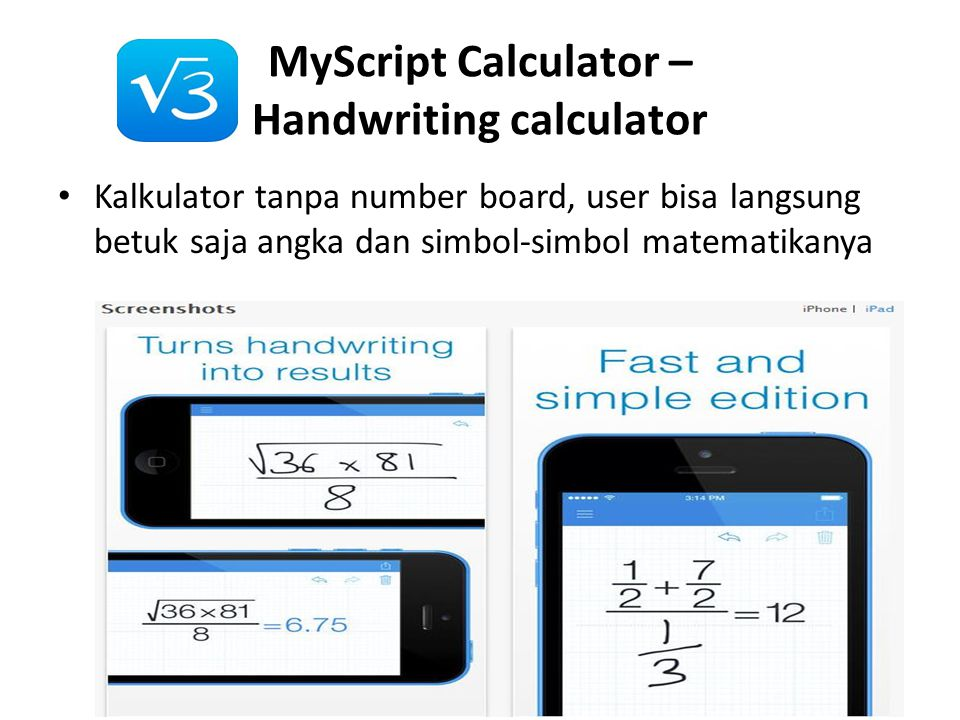 MyScript Calculator – Handwriting calculator
