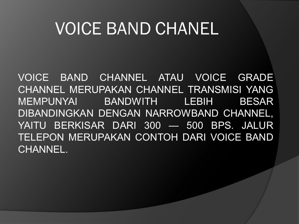 VOICE BAND CHANEL
