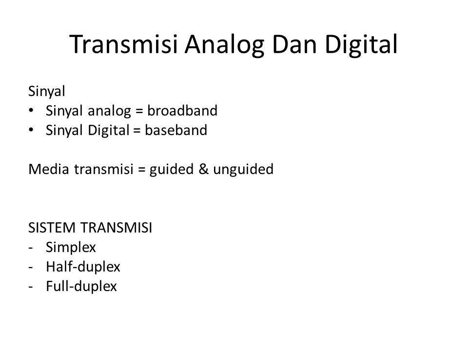 Transmisi Analog Dan Digital