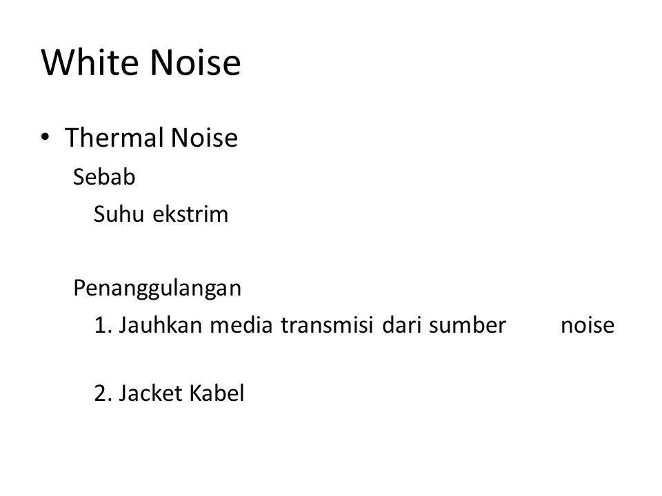 White Noise Thermal Noise Sebab Suhu ekstrim Penanggulangan