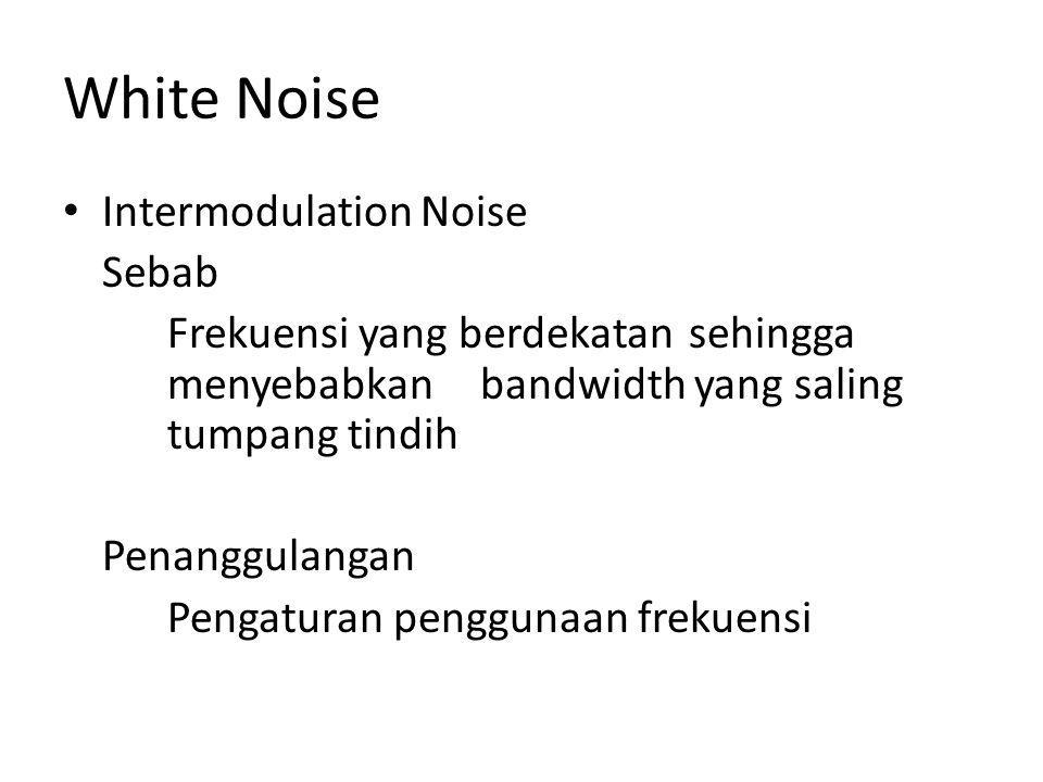 White Noise Intermodulation Noise Sebab