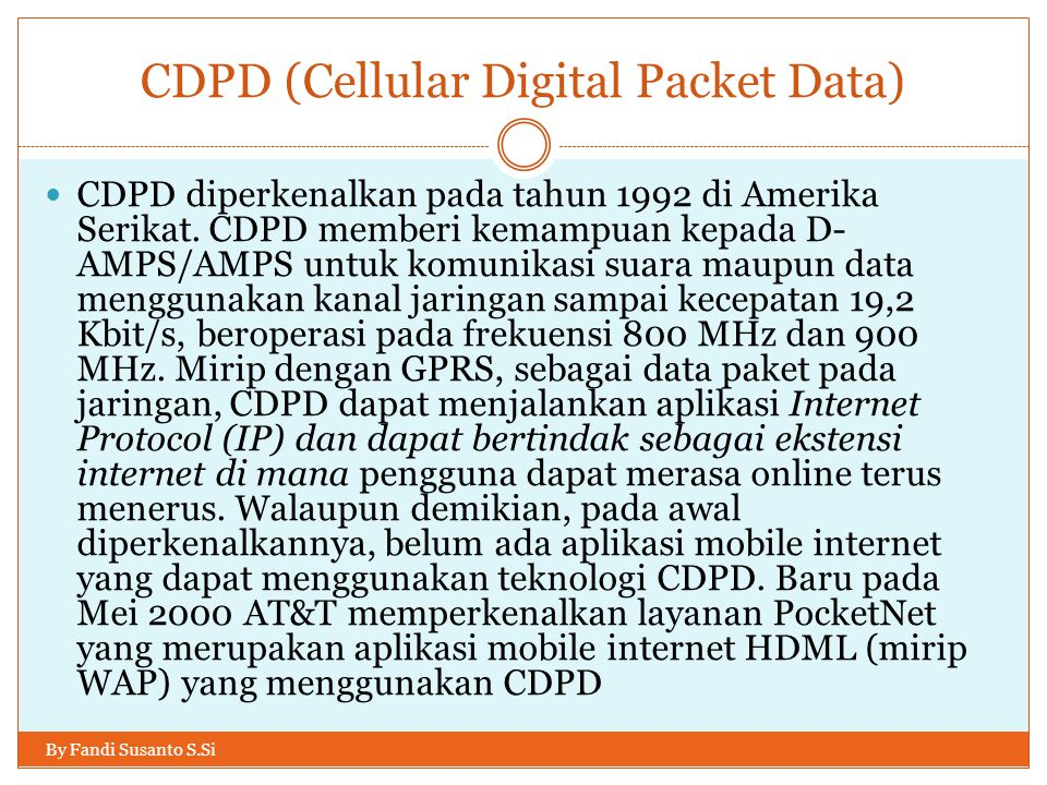 CDPD (Cellular Digital Packet Data)