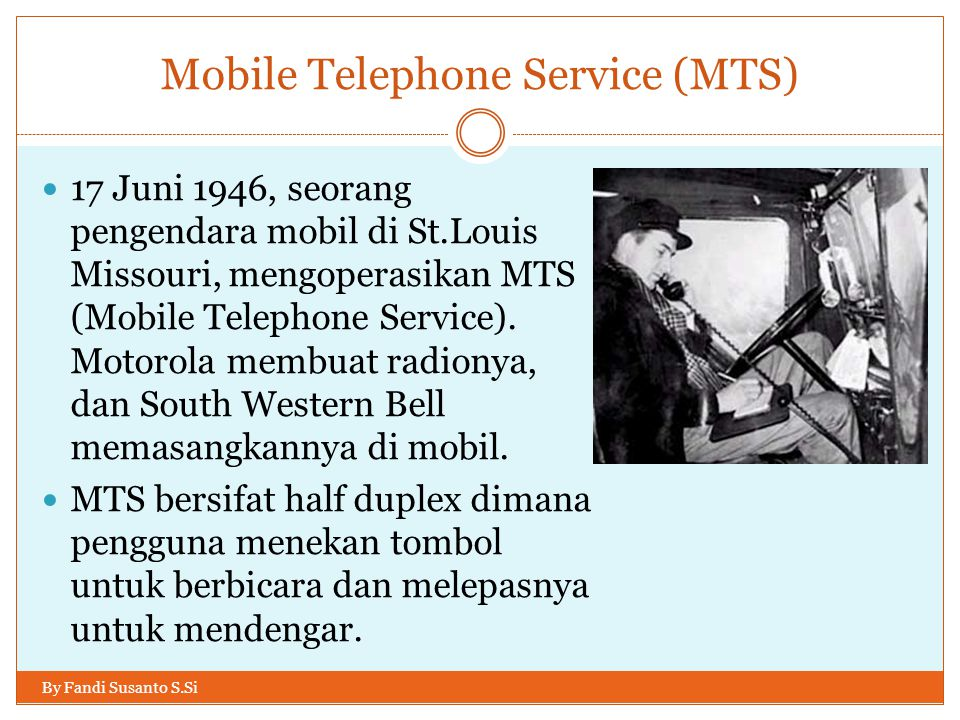 Mobile Telephone Service (MTS)