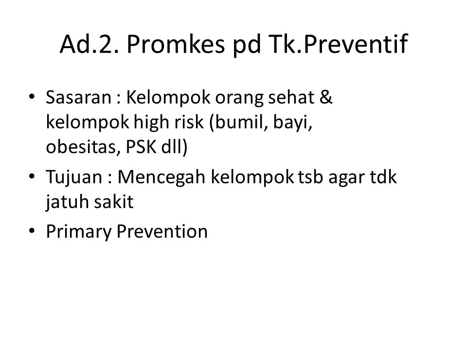 Ad.2. Promkes pd Tk.Preventif