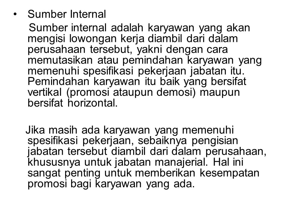 Sumber Internal