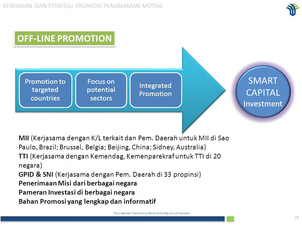 OFF-LINE PROMOTION SMART CAPITAL Investment