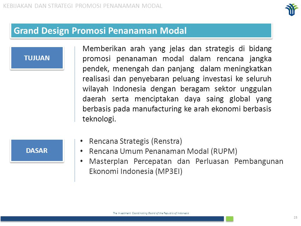 Grand Design Promosi Penanaman Modal