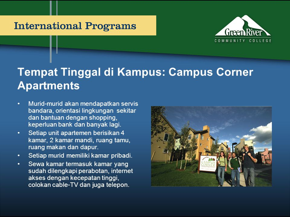 Tempat Tinggal di Kampus: Campus Corner Apartments