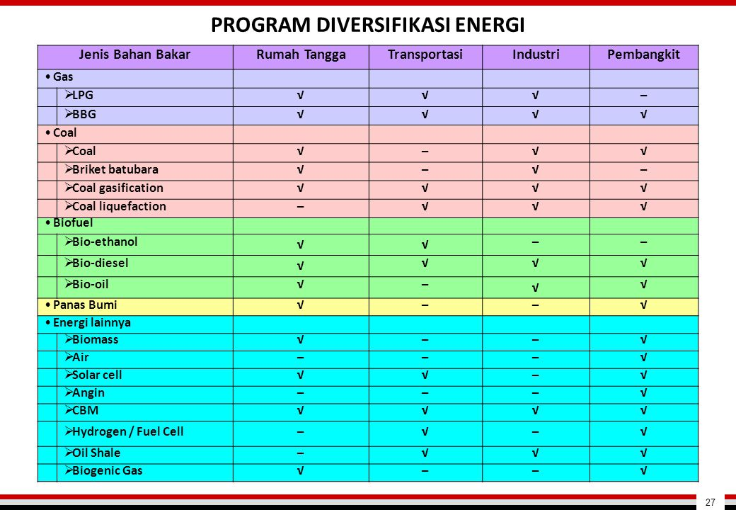 PROGRAM DIVERSIFIKASI ENERGI