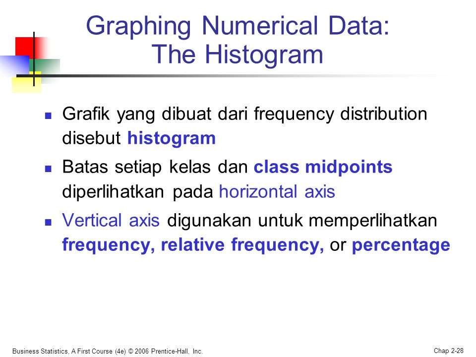 Graphing Numerical Data: The Histogram