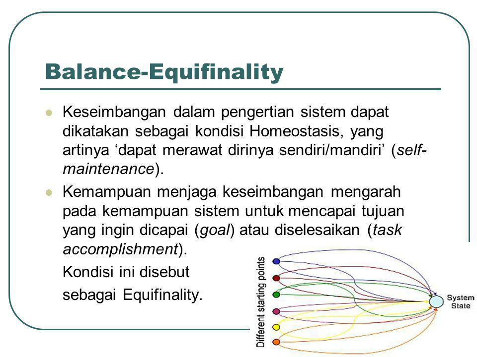 Balance-Equifinality