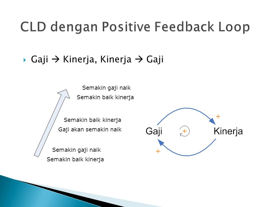CLD dengan Positive Feedback Loop