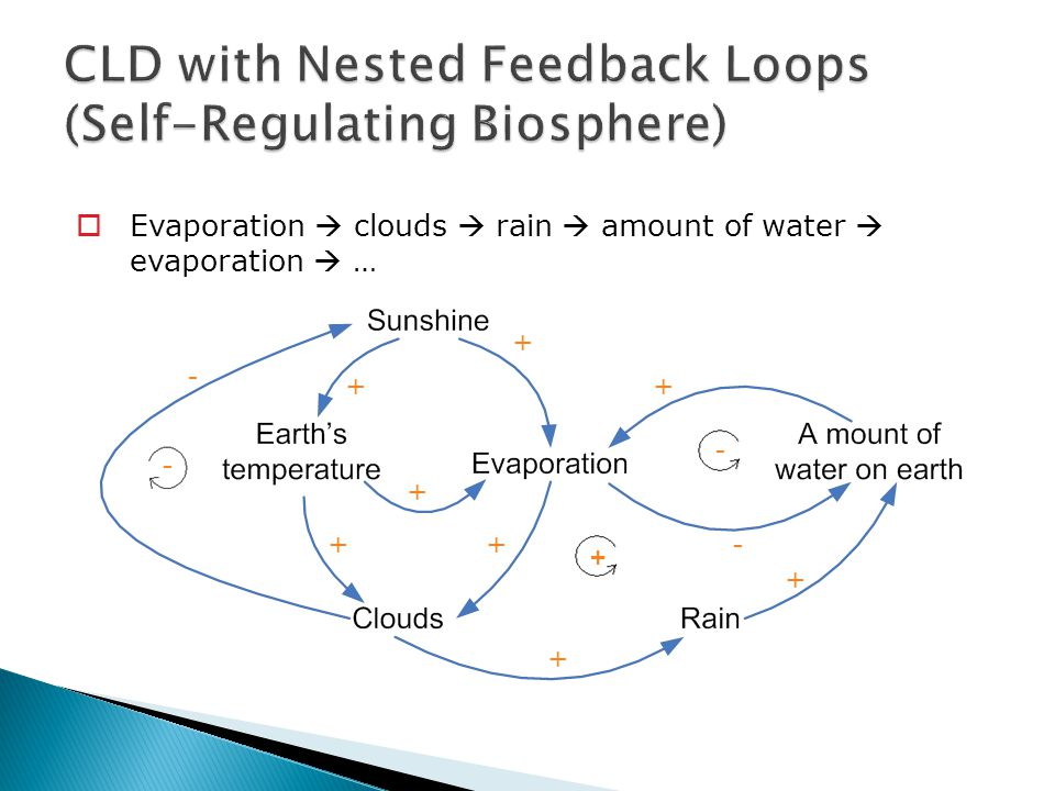 CLD with Nested Feedback Loops (Self-Regulating Biosphere)