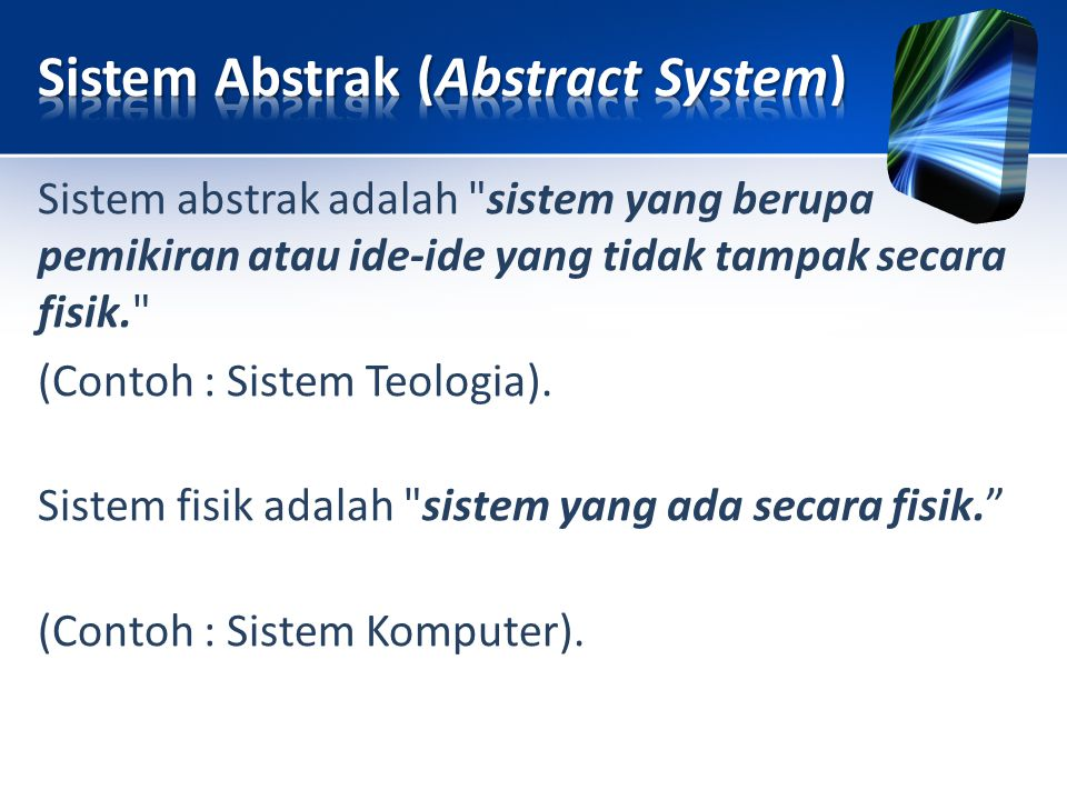 Sistem Abstrak (Abstract System)