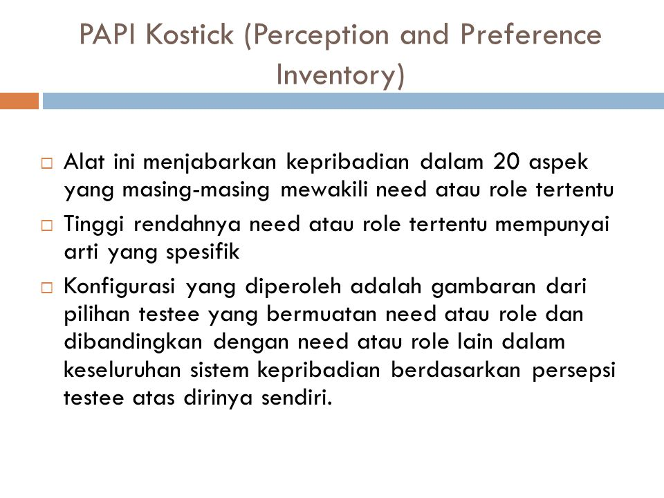 PAPI Kostick (Perception and Preference Inventory)