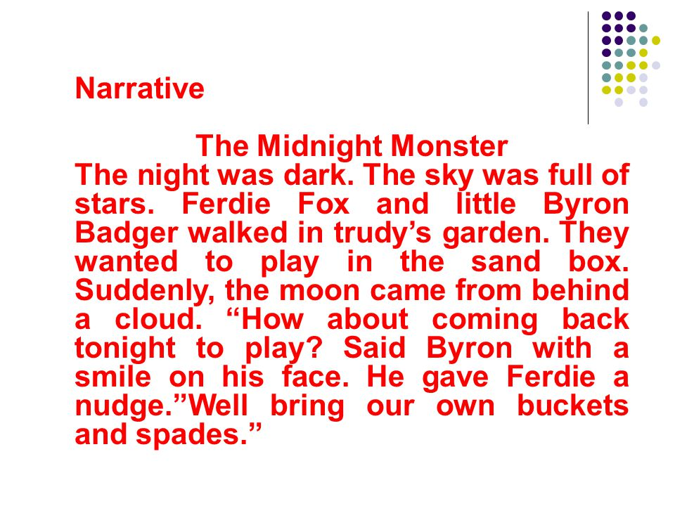 Narrative The Midnight Monster.